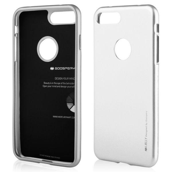 Schutzhülle i-JELLY für iPhone 7/8 Plus, silver
